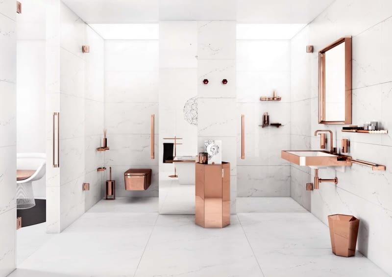 Elegancja I Luksus Dodatki Do łazienki W Kolorze Złota I
