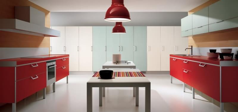 Biel I Czerwień W Kuchni Domosfera