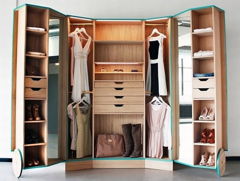 garderoba, małe mieszkanie, garderoba w małym mieszkaniu