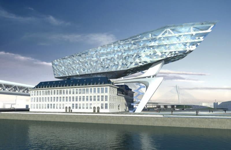 zaha hadid, antwerpia, belgia, port, architektura, projekt