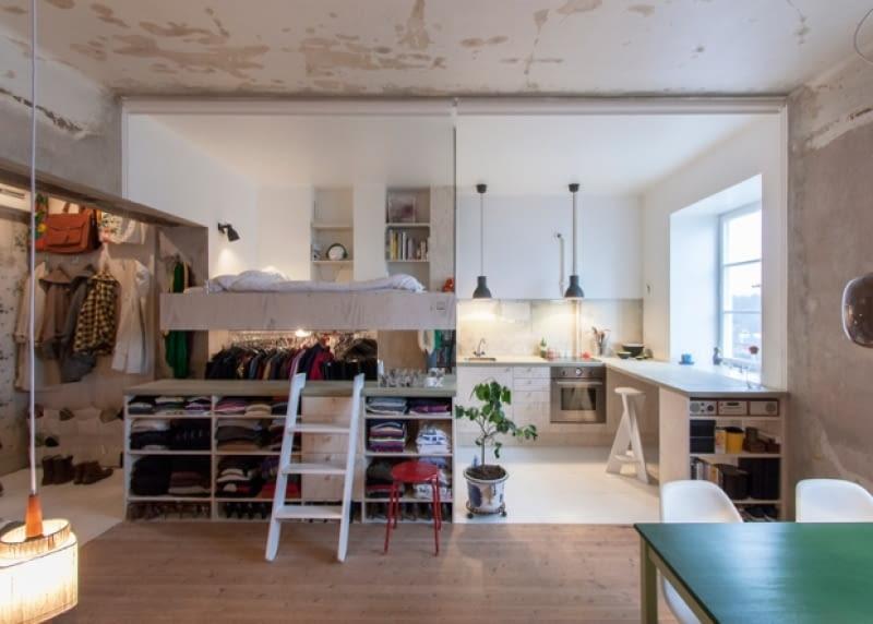 oryginalne mieszkanie, nowoczesne mieszkanie, mieszkanie w skandynawskim stylu