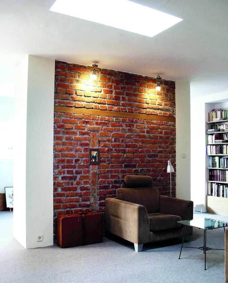 ściany Dekoracyjne Wnętrza Całe W Cegle ładny Dom