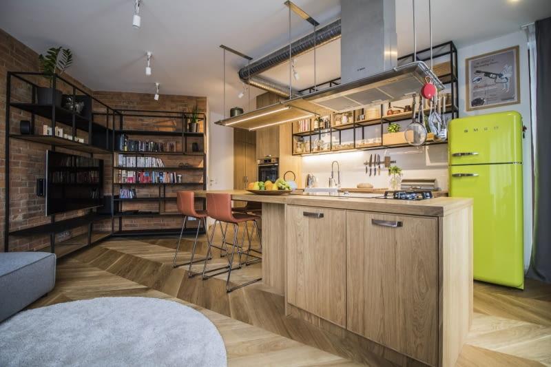 Mieszkanie Szefa Kuchni W Stylu Soft Loft ładny Dom