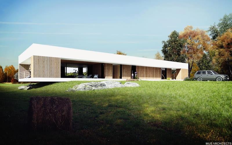 Parterowy Dom Jednorodzinny Nad Czarną Przemszą Projekt