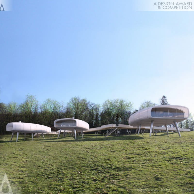 Futurystyczne pawilony jako centra badawcze zaprojektowane przez Dagmarę Oliwę i Anitę Luniak. Nagrodzone Golden A'Design Award w konkursie A'Design Award & Competition.