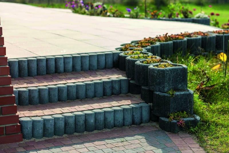 kostka brukowa, schodki w ogrodzie, ścieżki w ogrodzie