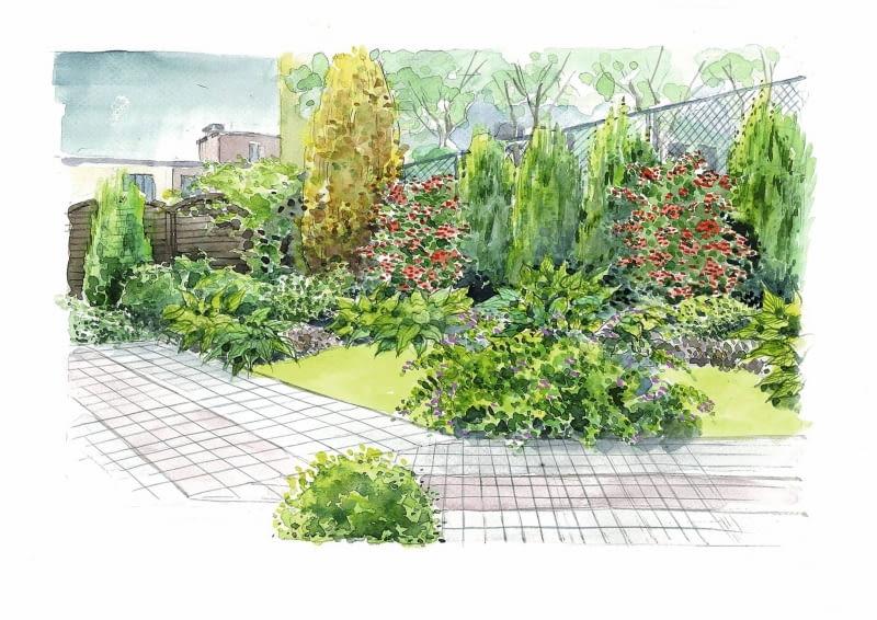 ogródek pod blokiem