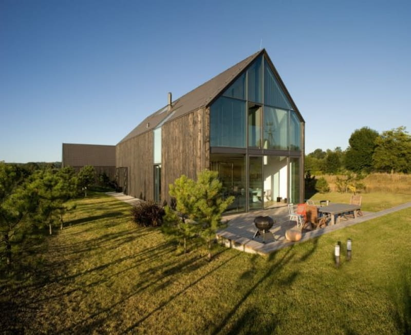 dom jednorodzinny, drewniana elewacja, domy zdjęcia, domy realizacje