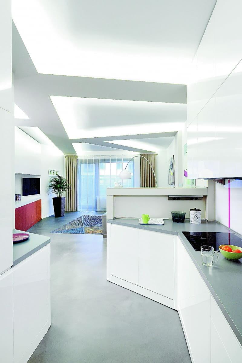 Białe Wnętrza ściany Podłogi Wyposażenie ładny Dom