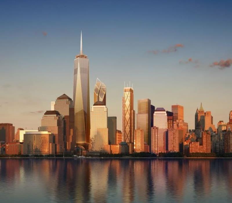 world trade center, nowy jork, wieżowiec, Santiago Calatrava, David Childs, Norman Foster, Frank Gehry, Fumihiko Maki, Richard Rogers, Daniel Libeskind