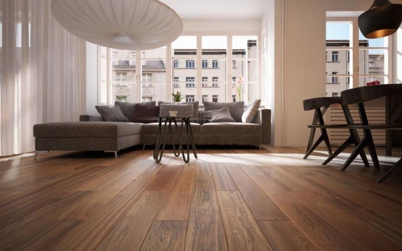 podłoga, salon, lakierowa podłoga