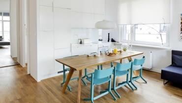 aranżacja wnętrz, jasne mieszkanie, skandynawski styl