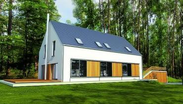 projekty domów, nowoczesny dom, dom pasywny