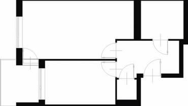 Projektowanie wnętrz. 43,6 m kw. dwupokojowe dla 3 osób.