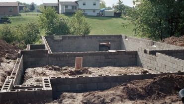 budowa domu, fundamenty
