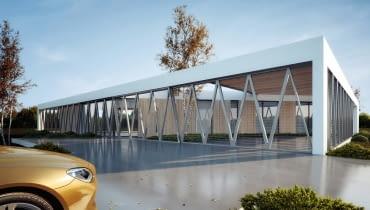 Dom z trójkątów - projekt