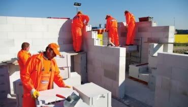koszt budowy domu, ściany zewnętrzne, beton komórkowy