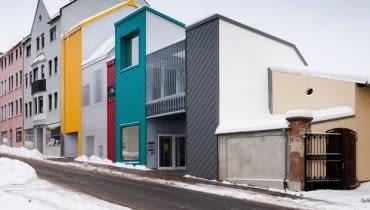 Kolorowe domki w bawarskim Selb