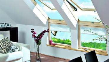 Stosowanie rozbudowanych zestawów okiennych zdecydowanie podwyższa komfort pomieszczeń na poddaszu