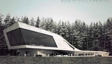 pawel fiedczas projekt muzeum motoryzacji architektura betonowa