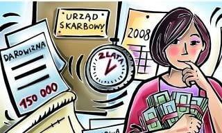 Otrzymanie darowizny należy zgłosić właściwemu naczelnikowi urzędu skarbowego