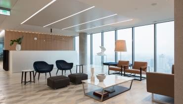 Wnętrze biura kancelarii Linklaters. Proj. Mood Works - Karina Snuszka i Dorota Kuć