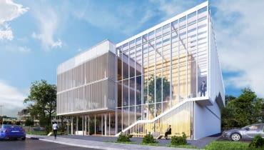 Poglądowa wizualizajca nowej siedziby TVP w Kielcach