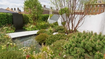 yThe Jeremy Vine Texture Garden. Designed by: Matt Keightley. RHS Chelsea Flower Show 2017. Stand no. Feel Good Garden 288