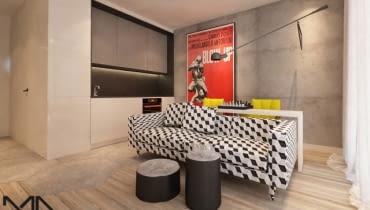 Projekt mieszkania 33m2, Studio Madama