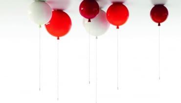 Lampy balony Memory, proj. Boris Klimek, od 875 zł/szt., Brokis/Hafart