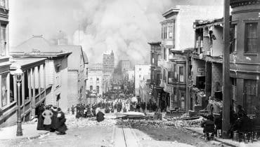 San Francisco w 1906 po trzęsieniu ziemi