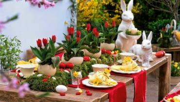 Wielkanoc, wiosna, jajko, wnętrza, dodatki