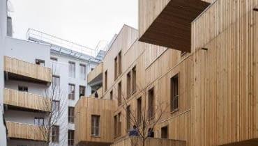 Tete en l'air - socjalny budynek wielorodzinny w Paryżu autorstwa KOZ Architectes