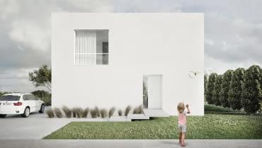 Projekt kompaktowego domu jednorodzinnego w Poznaniu.