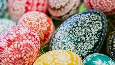 Pisanki opolskie, Wielkanoc