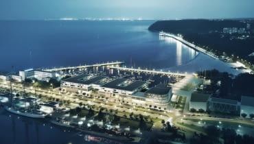 Projekt nowych zabudowań mariny w Gdyni