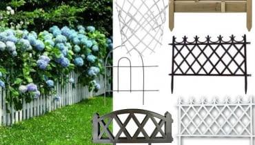 kwiaty, hortensja, płot ogrodowy, ogród