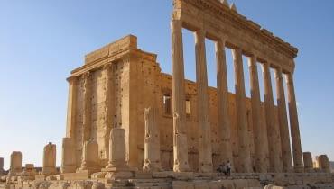 Świątynia w Palmirze - stan sprzed zniszczenia przez Państwo Islamskie