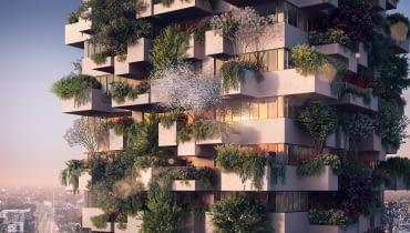 Projekt 'wertykalnego lasu' wieżowca z mieszkaniami socjalnymi w Eindhoven.