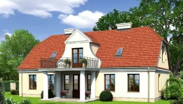 projekt domu, dwom dworek