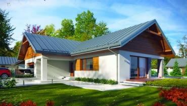 projekty domów, dom parterowy