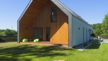 dom modułowy, dom drewniany