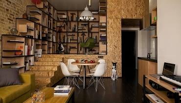 małe mieszkanie, osb, oryginalne małe mieszkanie, jak urządzić małe mieszkanie, nowoczesne małe mieszkanie