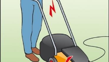 Porażenie wywołane uszkodzeniem kabla podczas koszenia trawy