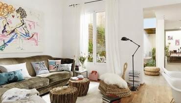 kobiece mieszkanie, stylowe mieszkanie, jasne mieszkanie