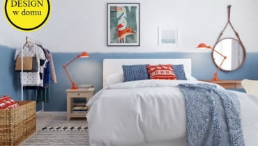 Nowoczesne mieszkanie w skandynawskim stylu - sypialnia. Proj. Int2 Architecture