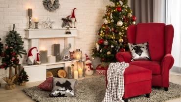 Dekoracje świąteczne w sklepach Agata