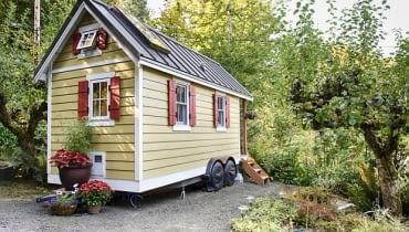 mały domek, tiny house, zamieszkać w małym domku