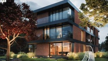 Dom Czerwony, blok mieszkalny, budynek mieszkalny, blok, nowoczesny blok