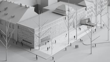 Wizualizacja projektu autorstwa Roberta Koniecznego (KWK PROMES). Widok z lotu ptaka